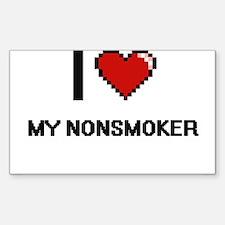 I Love My Nonsmoker Decal