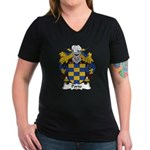 Porto Family Crest Women's V-Neck Dark T-Shirt