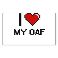 I Love My Oaf Decal