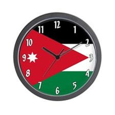 Flag of Jordan Wall Clock