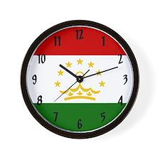 Flag of Tajikistan Wall Clock