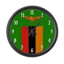 Flag of Zambia Large Wall Clock