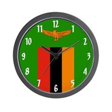 Flag of Zambia Wall Clock