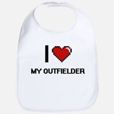 I Love My Outfielder Bib