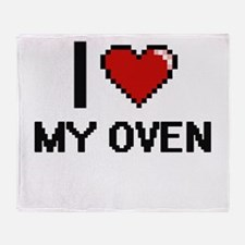 I Love My Oven Throw Blanket