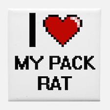 I Love My Pack Rat Tile Coaster