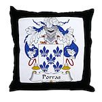 Porras Family Crest Throw Pillow