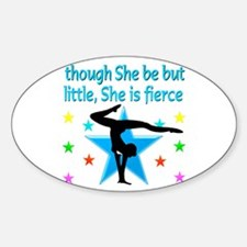 FIERCE GYMNAST Sticker (Oval)