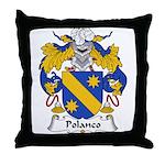 Polanco Family Crest Throw Pillow
