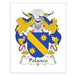 Polanco Family Crest Small Poster
