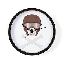 Motorcycle Helmet Skull Wall Clock