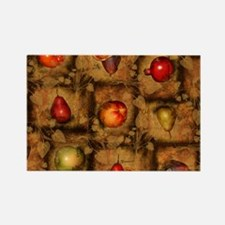 Fruit Collage Pattern Magnets