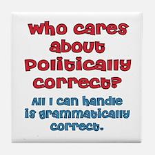 Grammatically Correct Tile Coaster