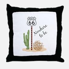 Nowhere To Be Throw Pillow