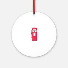 Gas Pump Round Ornament