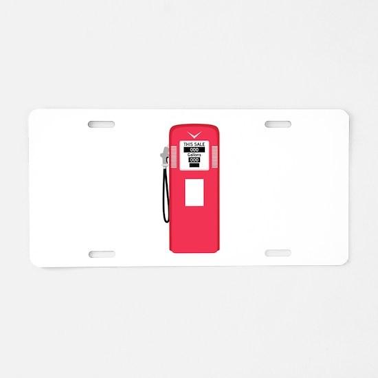 Gas Pump Aluminum License Plate
