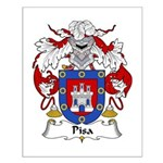 Pisa Family Crest Small Poster
