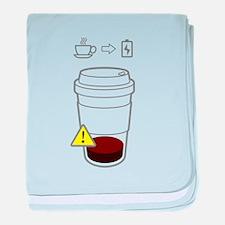 Warning: low coffee baby blanket