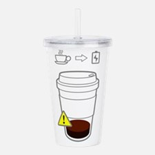 Warning: low coffee Acrylic Double-wall Tumbler