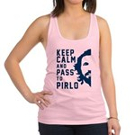 Keep calm and pass to Pirlo Racerback Tank Top