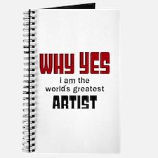 World's Greatest Artist Journal