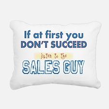 Sales Guy Rectangular Canvas Pillow