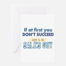 Sales Guy Greeting Cards