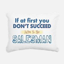 Salesman Rectangular Canvas Pillow