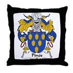Pinos Family Crest Throw Pillow