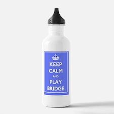 Keep Calm Play Bridge Sports Water Bottle