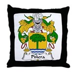 Pinera Family Crest Throw Pillow