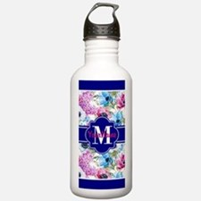 Boho Watercolor Floral Sports Water Bottle