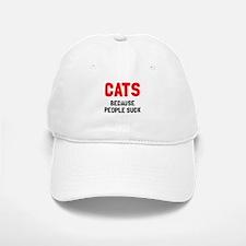 Cats because people suck Baseball Baseball Cap