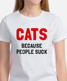 Cats because people suck Tee