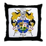 Pidal Family Crest Throw Pillow