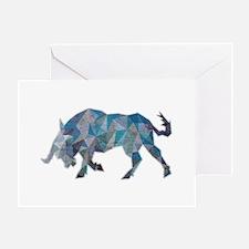 Bull Lowpoly Greeting Card