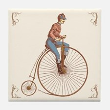 Vintage Ordinary Bike Tile Coaster
