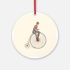 Vintage Ordinary Bike Ornament (Round)