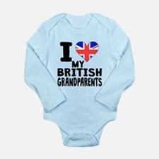 I Heart My British Grandparents Body Suit
