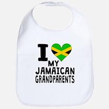 I Heart My Jamaican Grandparents Bib