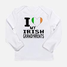I Heart My Irish Grandparents Long Sleeve T-Shirt