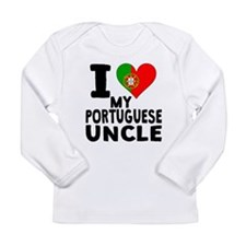 I Heart My Portuguese Uncle Long Sleeve T-Shirt