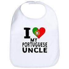 I Heart My Portuguese Uncle Bib