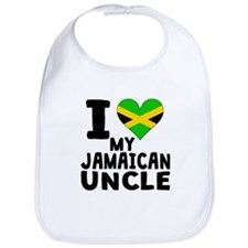 I Heart My Jamaican Uncle Bib