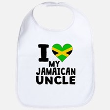 I Heart My Jamaican Uncle Bib