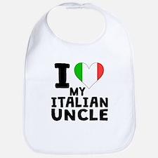 I Heart My Italian Uncle Bib