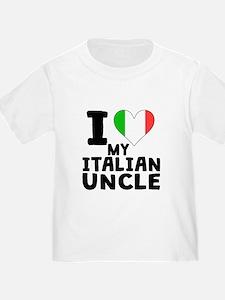 I Heart My Italian Uncle T-Shirt
