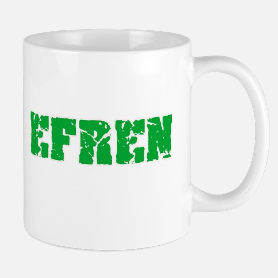 Efren Name Weathered Green Design Mugs