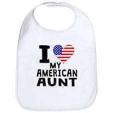 I Heart My American Aunt Bib