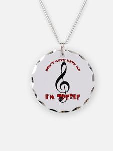 I'm Treble Necklace Circle Charm